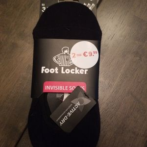 Foot locker Invisible black socks 3 pairs